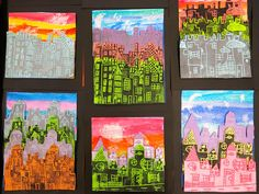 Great Project combining super lessons in color and printmaking and sticking-with-it-ness! Love it!