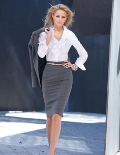 Grey skirt from Madeleine Mode Onlineshop