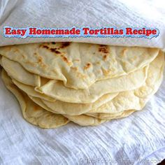 Easy Homemade Tortillas Recipe Make sure youlikeliving green and frugally on Facebookandfollow us on Pinterestto be updated every time we find a great t...