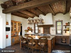 Awarded Designs - mediterranean - Kitchen - Denver - Godden Sudik Architects Inc - mexican Cuisine Spanish Kitchen, Spanish Style Homes, Mediterranean Kitchen Design, French Country Kitchen, Kitchen Styling, Kitchen Interior, Spanish Style Kitchen, Mediterranean Kitchen, Rustic Kitchen