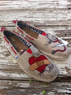 Custom hand painted TOMS Nurses Make it Better by solereflections