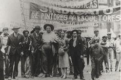 Diego Rivera and Frida Kahlo in the May Day Parade, Mexico City, 1st May 1929 Photographic Print by Tina Modotti at Art.com