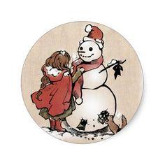"SajuArtZen ""Winter Friends""  Sticker"