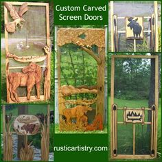 Start thinking about warm weather! Order a custom carved screen door and have it ready for those summer breezes.
