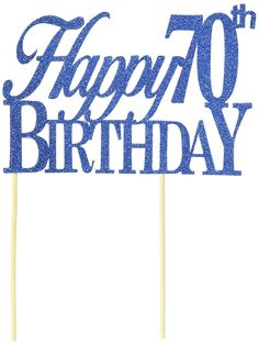 All About Details Blue Happy-70th-birthday Cake Topper -- Startling review available here at : baking decorations