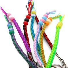 DIY Key Chain Key Ring Zipper pull Plastic Lacing Cord Pony Beads