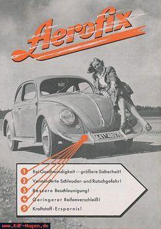 Kdf-Wagen - Shows all pictures of VW brochures Aerofix from 1950 Coccinelle Volkswagen Vintage, Volkswagen Beetle Vintage, Vw T, Porsche, Vw Accessories, Old School Pictures, Vw Cabrio, Kdf Wagen, Vw Vintage