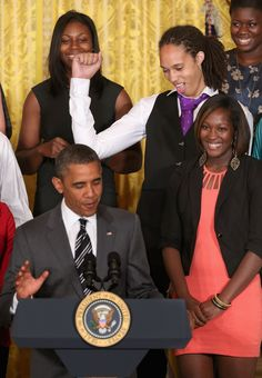 Brittney Griner Photo - Obama Welcomes 2012 NCAA Womens Basketball Champions To White House  My hero.
