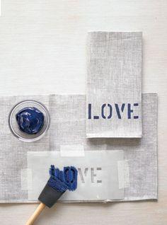 Estampá las servilletas de tu casamiento… *DO IT YOURSELF