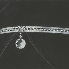 The Liens motif is part of the sentimental jewellery tradition of Chaumet, dating back to the early 19th Century. Preparatory sketch for a bandeau tiara, circa 1910.