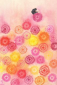 <快樂> 隨著心花朵朵飛上天際,我看見,快樂對我大大微笑,120904