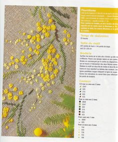 1000 images about mimosa on pinterest mimosas punto croce and acacia - Salon fil en aiguille ...
