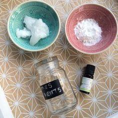 Dentifrice : huile de coco, bicarbonate, argile blanche, ...