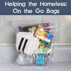 Summer Service Project Ideas for Kids - On the Go Bags for the Homeless
