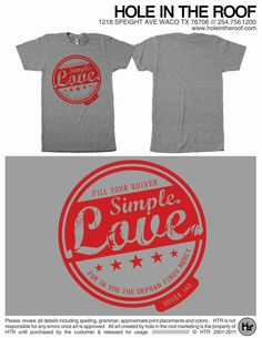 Fundraiser for a new Houston friend who's new adopted baby should arrive in the next two weeks! simple love adoption fundraiser tshirt by simplelove1 on Etsy, $25.00.