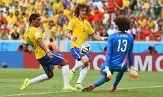 Guillermo Ochoa stays upright and foils Brazil again as Brazil and Mexico draw 0-0 in their 2nd game in the 2014 World Cup