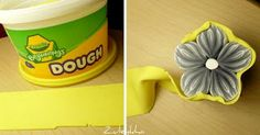 from Zuleykha's Polymer Clay blog. Wrap Crayola dough around an irregular cane, then plenty of scrap polymer clay to reduce without distortion.