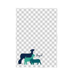 Hazel Livestock Fleece Blanket