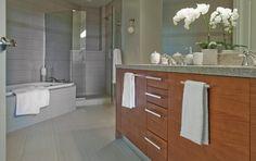 The actual penthouse master bath at Escala
