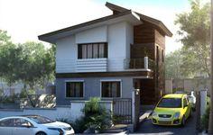 Fachada casa pequeña dos pisos