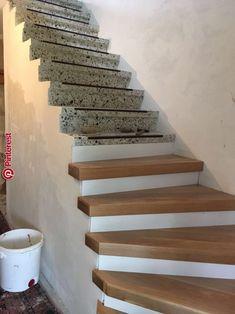 Terrazzo Treppe Renovierung - Wohnen ideen Terrazzo stair renovation Terrazzo stair renovation The post Terrazzo staircase renovation appeared first on Living ideas. Stair Renovation, Camper Renovation, Basement Stairs, House Stairs, Stair Railing, Wood Staircase, Railing Ideas, Railing Design, Entrance