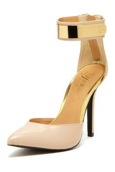 Nude Strap Pumps