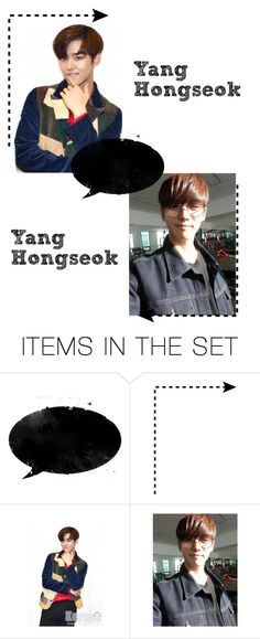 """""""Yang Hongseok; Introduction."""" by kay-anxns ❤ liked on Polyvore featuring art, kayboys and kayanons"""