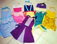 Princess Dress-up Aprons! Instead of actual dresses. Easy to put on. It takes longer for them to out grow these.