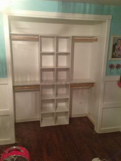 WOW! That closet looks amazing! 2 of my girls are currently sharing a room right now and a closet. It's a hott mess! This would be perfect f...