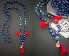Marrakesh Night MALA long necklace / Lapis by NOMADaccessoriesETSY