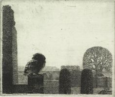 an etching by Charles Donker