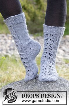 Ravelry: Lace Warmers pattern by DROPS design Drops Design, Baby Girl Crochet Blanket, Crochet Baby Hats, Knitting Socks, Free Knitting, Knit Socks, Loom Knitting Patterns, Crochet Patterns, Knitted Slippers