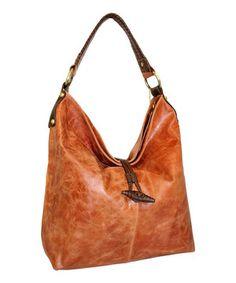 Look at this #zulilyfind! Nino Bossi Handbags Cognac Fresno Feed Bag by Nino Bossi Handbags #zulilyfinds
