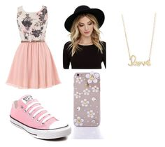 """Cute Easter Dinner outfit"" by mrshayesgrier7 ❤ liked on Polyvore featuring Converse, RHYTHM and Sydney Evan"