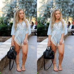 OUTFIT OF THE DAY | BOHO PLAYSUIT