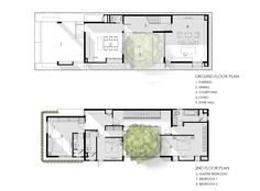 I-House,Ground Floor Plan - Floor Plan Image 28 of 29 from gallery of I-House / Gooseberry Design. Narrow House Designs, Narrow House Plans, Modern House Plans, House Floor Plans, The Plan, How To Plan, Detail Architecture, Architecture Plan, Courtyard House Plans