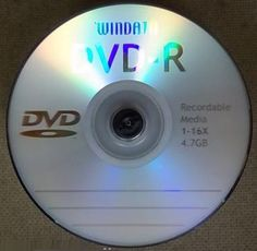 5 Windata DVD-R 16x Logo Top Blank Recordable Discs w/Paper Sleeves