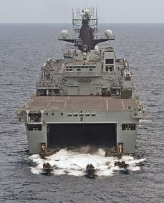 HMS Albion Deploys Royal Marine Assault Craft by Defence Images, via Flickr
