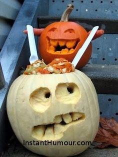 Zombie Pumpkin - instant Humour