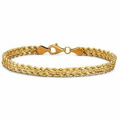 "Gold Bracelet, 4.9mm 7.25"" Double Rope 10K - jcpenney"