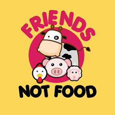 Womens Friends Not Food T-Shirt for Vegans and Vegetarians Tshirt available in many colors. We offer most designs in Mens and Womans styles. Check out our store for more Vegan Vegetarian Compassionate T Shirts