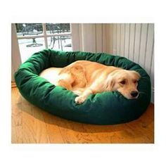 """Majestic Pet Small 24"""" Bagel Bed - Green & Sherpa"""