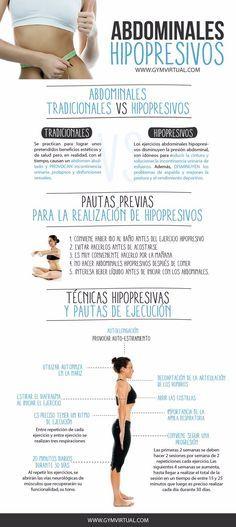 Técnicas y pautas para aprender a hacer abdominales hipopresivos. #abdominales #hipopresivos #ejercicios #infografias
