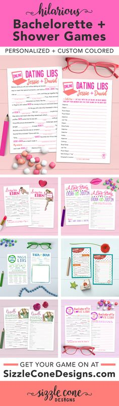 Check out this large collection of HILARIOUS, personalized bridal shower mad libs! Perfect printable games for lingerie & bachelorette parties too.