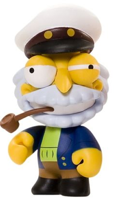"""Toy130 """" Sea Captain McCallister"""" by Matt Groening / Simpsons Series for Kid Robot (2010) #Toy"""