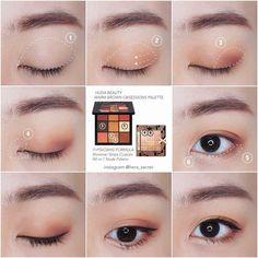 Gorgeous Makeup: Tips and Tricks With Eye Makeup and Eyeshadow – Makeup Design Ideas Korean Makeup Tips, Asian Eye Makeup, Eye Makeup Steps, Simple Makeup, Natural Makeup, Kiss Makeup, Beauty Makeup, Huda Beauty, Ulzzang Makeup