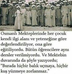 'Here, no fish will be forced to fly and no bird will be forced to swim' (Motto of an Ottoman school) Real Facts, Weird Facts, Fun Facts, Meaningful Quotes, Inspirational Quotes, Turkey History, Simple Past Tense, Good Sentences, My Dream Came True