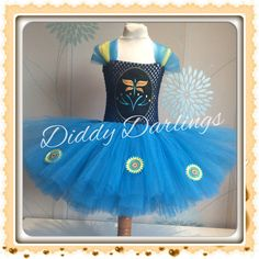 Frozen Fever Anna Tutu Dress. Frozen Fever Tutu Dress. Inspired... ($43) ❤ liked on Polyvore featuring dresses and blue dress