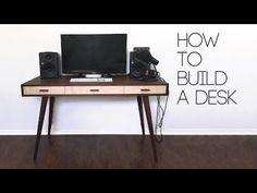 DIY Mid Century Modern Desk | How To | Modern Builds | EP. 60 - YouTube