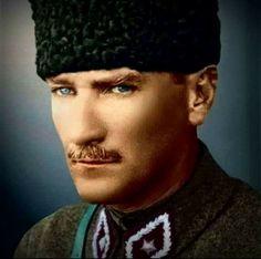 Nasil bir sevdaysan atam hic bitmedin ve bitmeyeceksin Turkish Military, Turkish Army, Republic Of Turkey, Blue Eyed Men, The Turk, Great Leaders, Handsome, Hero, Pure Products